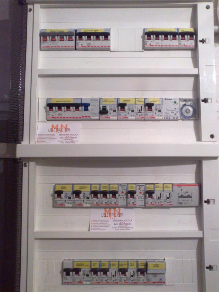 Schema Elettrico Quadro Di Stringa : Quadri elettrici elettricista legnano
